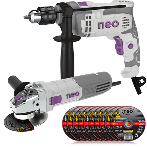 Impact Drill and Angle Grinder Kit